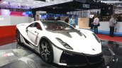 2015 GTA Spano front three quarter(3) view at the 2015 Geneva Motor Show