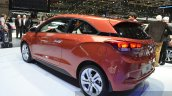 2015 Hyundai i20 Coupe rear three quarter at the 2015 Geneva Motor Show
