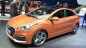 2015 Hyundai i30 Turbo front three quarters at the 2015 Geneva Motor Show