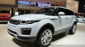 2015 Land Rover Evoque front three quarter at the 2015 Geneva Motor Show