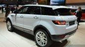 2015 Land Rover Evoque rear three quarter at the 2015 Geneva Motor Show