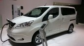 2015 Nissan e-NV200 7 seater front three quarter at the 2015 Geneva Motor Show