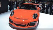 2015 Porsche 911 GT3 RS front three quarter view at 2015 Geneva Motor Show
