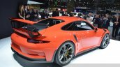 2015 Porsche 911 GT3 RS rear three quarter view at 2015 Geneva Motor Show