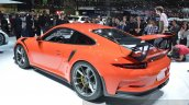 2015 Porsche 911 GT3 RS rear three quarter(2) view at 2015 Geneva Motor Show