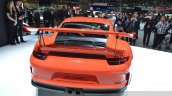 2015 Porsche 911 GT3 RS rear view at 2015 Geneva Motor Show