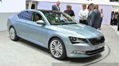 2015 Skoda Superb front three quarter view at 2015 Geneva Motor Show