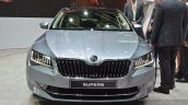 2015 Skoda Superb front view with DRL at 2015 Geneva Motor Show