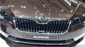 2015 Skoda Superb grille at 2015 Geneva Motor Show (1)