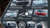2015 Toyota Camry Hybrid facelift Thailand press shot brochure