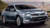 2015 Toyota Camry Hybrid facelift Thailand press shot front quarter