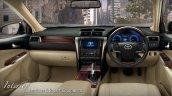 2015 Toyota Camry Hybrid facelift Thailand press shot interior