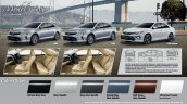 2015 Toyota Camry facelift Thailand press shot color chart