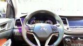 2016 Hyundai Tucson steering wheel at the 2015 Geneva Motor Show