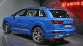 Audi Q7 E-tron rear three quarter view at 2015 Geneva Motor Show