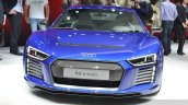 Audi R8 E-tron front view at 2015 Geneva Motor Show