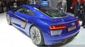 Audi R8 E-tron rear three quarter view at 2015 Geneva Motor Show