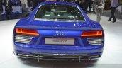 Audi R8 E-tron rear view at 2015 Geneva Motor Show