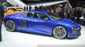 Audi R8 E-tron side view at 2015 Geneva Motor Show