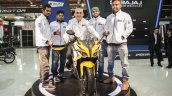 Bajaj Pulsar 200SS with distributor officials at the Eurasia Moto Bike Expo 2015