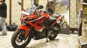Bajaj Pulsar RS200 Red front three quarter at Launch