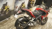 Bajaj Pulsar RS200 Red rear three quarter at Launch