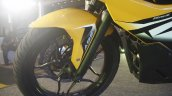 Bajaj Pulsar RS200 Yellow alloy wheel at Launch