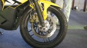 Bajaj Pulsar RS200 Yellow front wheel at Launch