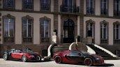 Bugatti Veyron Grand Sport Vitesse La Finale next to the first Veyron press image