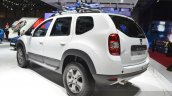 Dacia (Renault) Duster AWD 125 TCe rear three quarter view at 2015 Geneva Motow Show