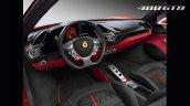 Ferrari 488 GTB interior press image