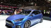 Ford Focus RS front three quarters right at the 2015 Geneva Motor Show