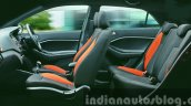 Hyundai i20 Active Orange interior side press shots