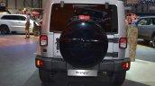 Jeep Wrangler Black Edition II rear view at the 2015 Geneva Motor Show