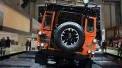 Land Rover Defender Adventure Edition rear at the 2015 Geneva Motor Show