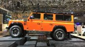 Land Rover Defender Adventure Edition side view leaked at the 2015 Geneva Motor Show