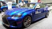 Lexus GS F front three quarters at the 2015 Geneva Motor Show