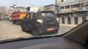 Mahindra S101 rear three quarter test mule spotted in Chennai, India