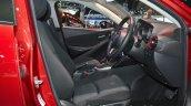 Mazda2 Sedan petrol variant front seats at the 2015 Bangkok Motor Show