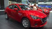 Mazda2 Sedan petrol variant front three quarter at the 2015 Bangkok Motor Show