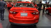 Mazda2 Sedan petrol variant rear at the 2015 Bangkok Motor Show