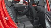 Mazda2 Sedan petrol variant rear seat at the 2015 Bangkok Motor Show