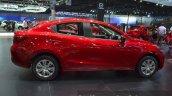 Mazda2 Sedan petrol variant side at the 2015 Bangkok Motor Show