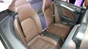 Mercedes E400 Cabriolet rear seats from the launch in India