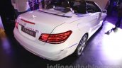 Mercedes E400 Cabriolet rear three quarter right from the launch in India