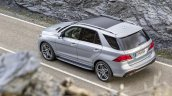 Mercedes GLE top view rear official image