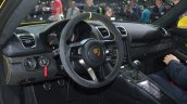 Porsche Cayman GT4 interior at the 2015 Geneva Motor Show