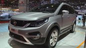 Tata Hexa front three quarters zoom at the 2015 Geneva Motor Show