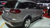 Tata Hexa rear three quarters view at the 2015 Geneva Motor Show