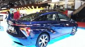 Toyota Mirai rear three quarters at the 2015 Geneva Motor Show
